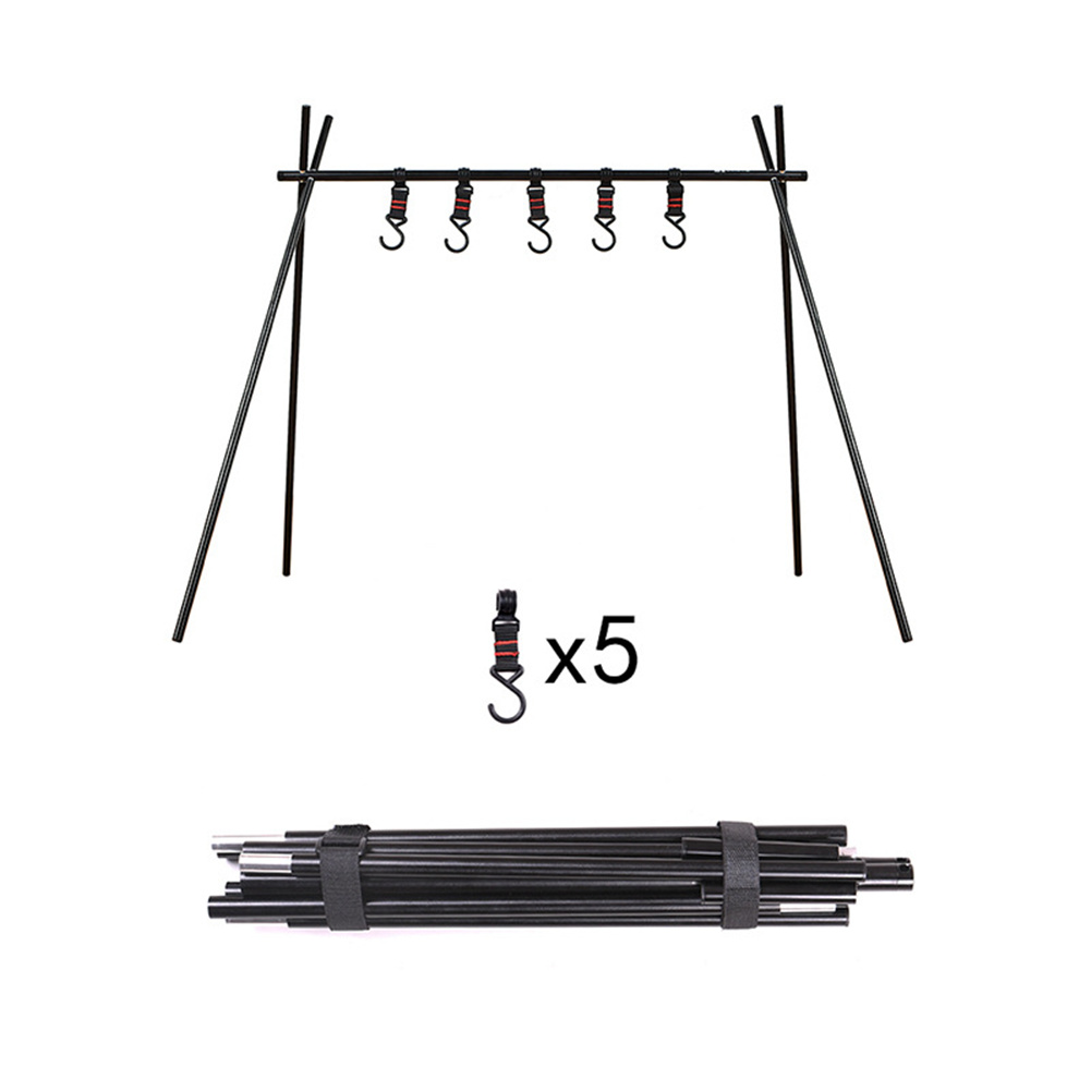 Foldable  Tripod Hanger For Camping Kitchenware Storage Hook Portable Barbecue Tool Bracket small