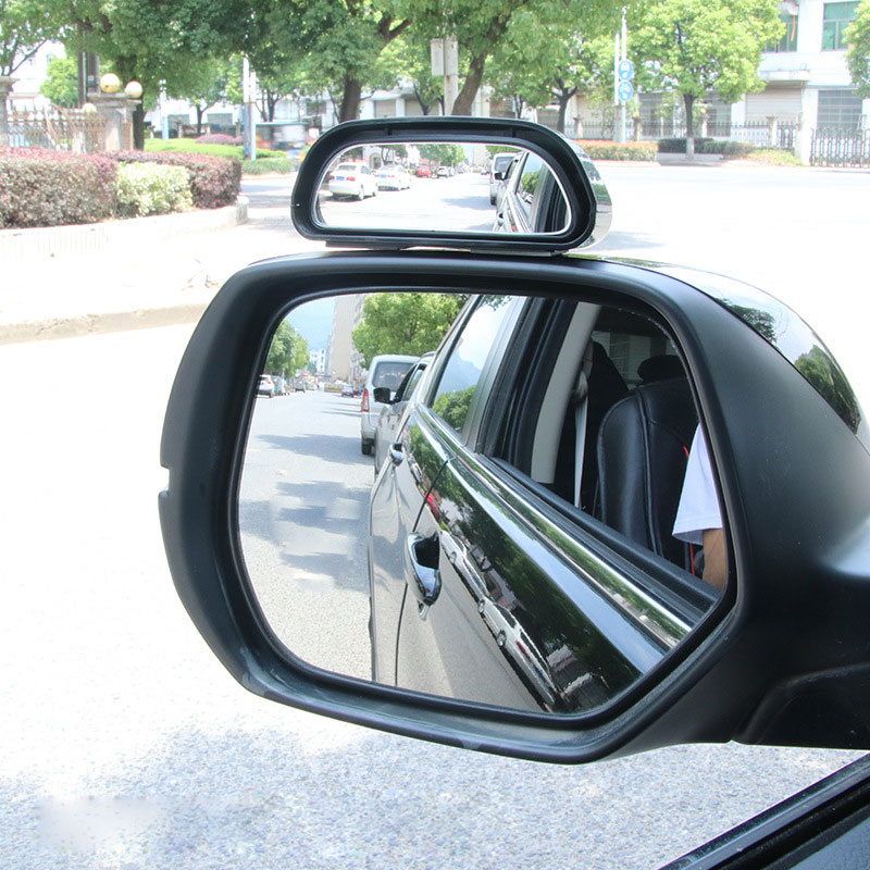 Mini Rearview Car Mirror Assitant Wide Angle Trapezoid Blind Spot Side Rear View Mirror Single pack