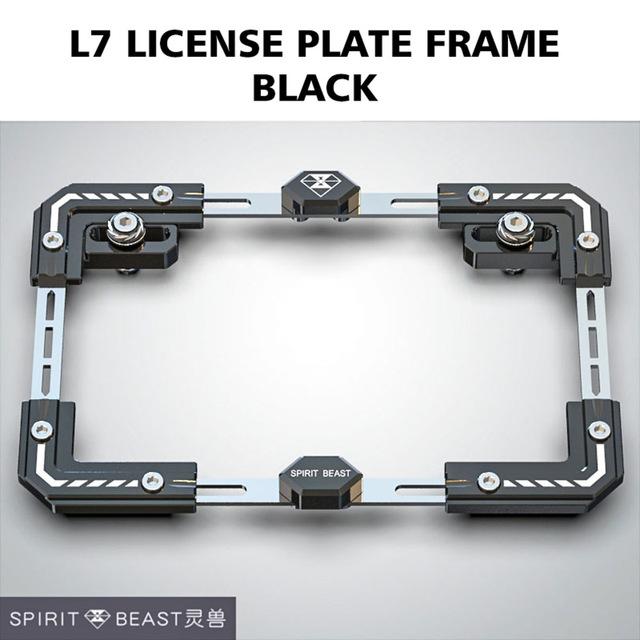 Universal Motorcycle License Plate Holder Number Bracket Frame black