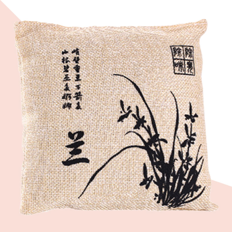 4 Pcs Bamboo Charcoal Package Car Air Freshener Purifier Plum Blossom Orchid Bamboo Chrysanthemum Chinese Style Design