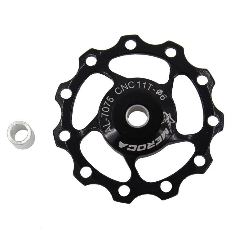11T/13T Aluminum Alloy MTB Mountain Bike Bicycle Rear Derailleur Pulley Jockey Wheel Road Bike Guide Roller For 7/8/9/10 Speed 11T black