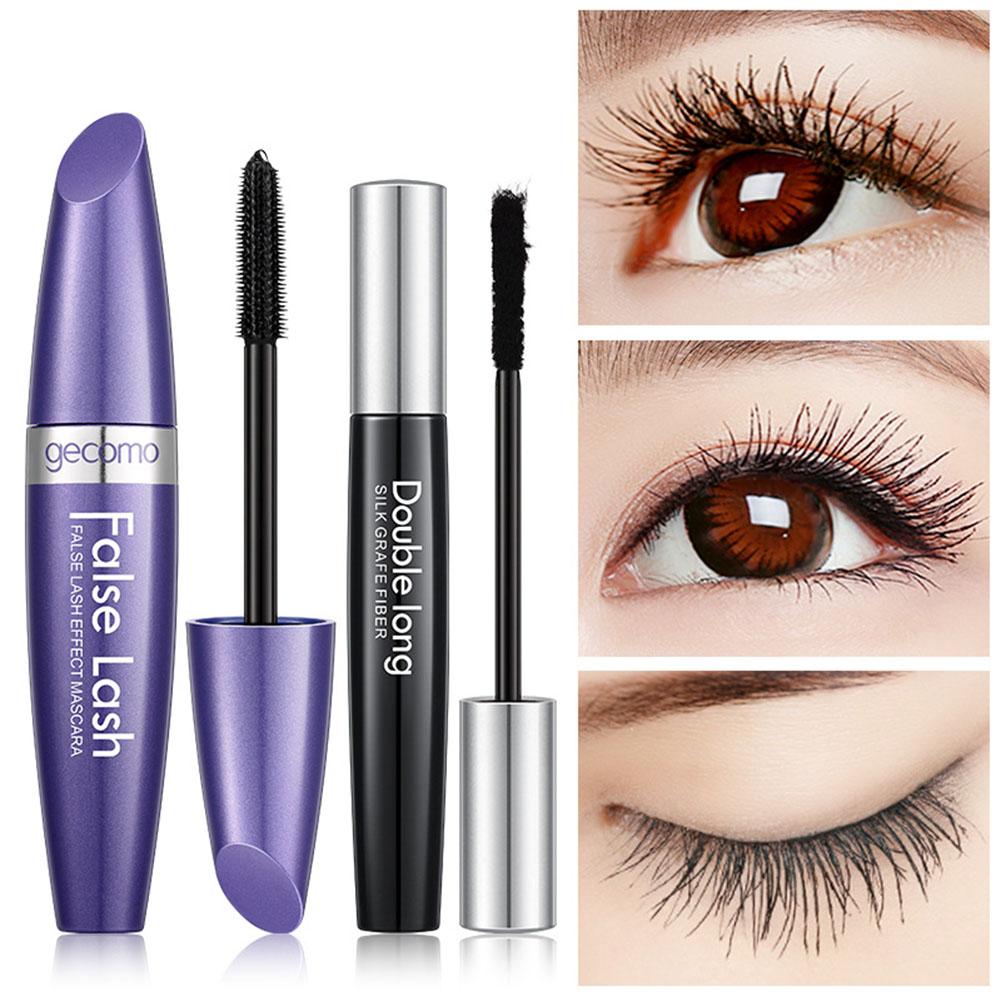 4D Black Curling Mascara Grafting Fiber Set Quick Dry Thick Extension Waterproof Eye Cosmetics