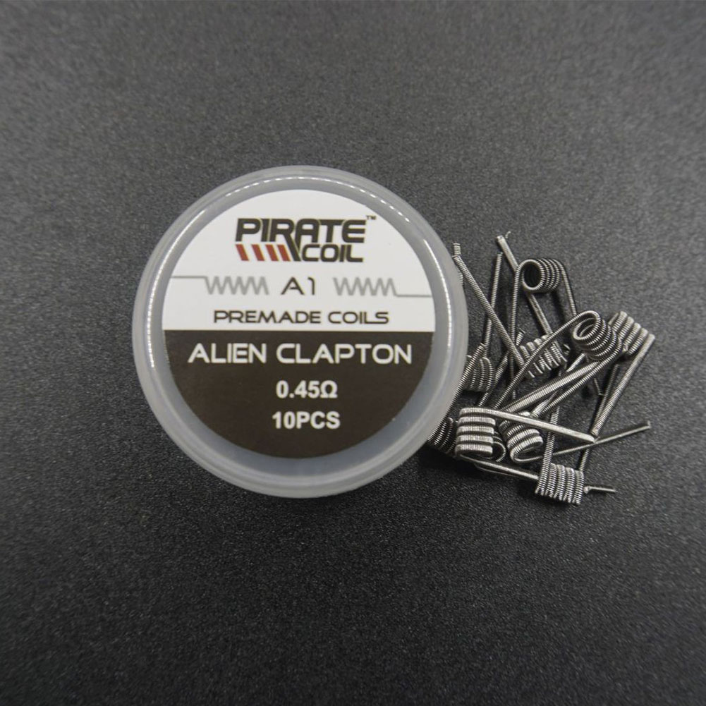 Alien Clapton Twisted Heating Resistance Coil for Electronic Cigarette Pirate a1 filament 10 pcs / box_Alien clapton 0.45 ohm