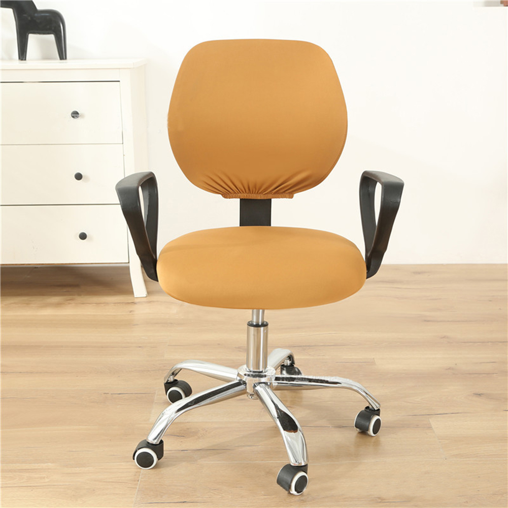 Computer Office Chair  Covers Stretch Rotating Chair Slipcovers Cover Camel