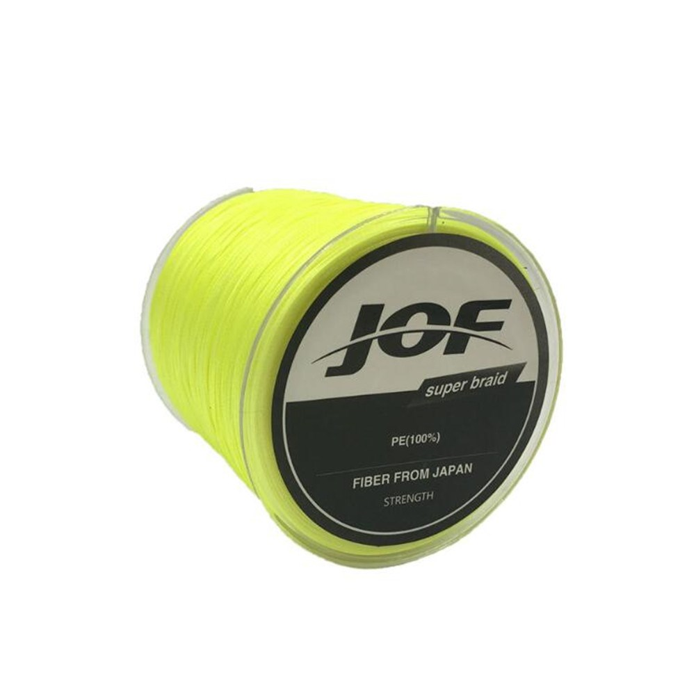 Fishing Line 8 Strands PE Braided 500 Meters Multifilament Fishing Line Rope Wire yellow_4.0