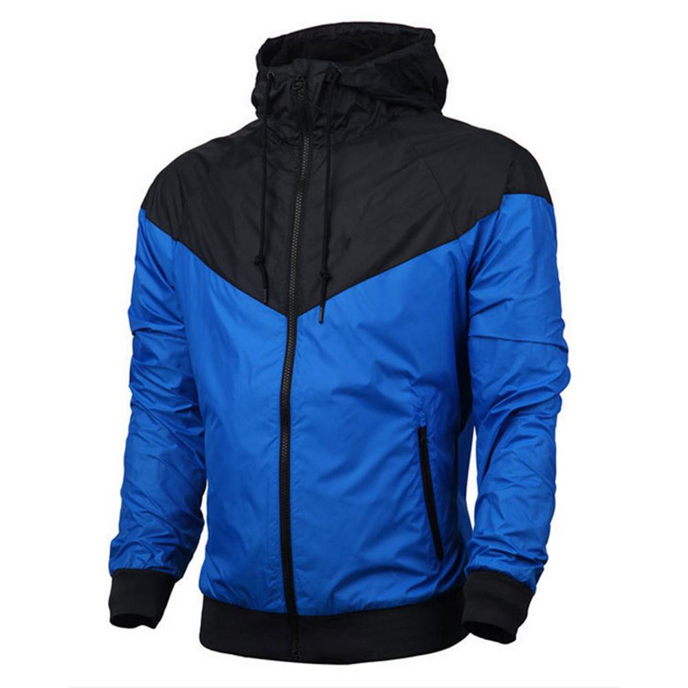 Men Women Jacket Sports Sunscreen Outdoor Windbreak Running Mountaineering Sportswear Coat blue_XL