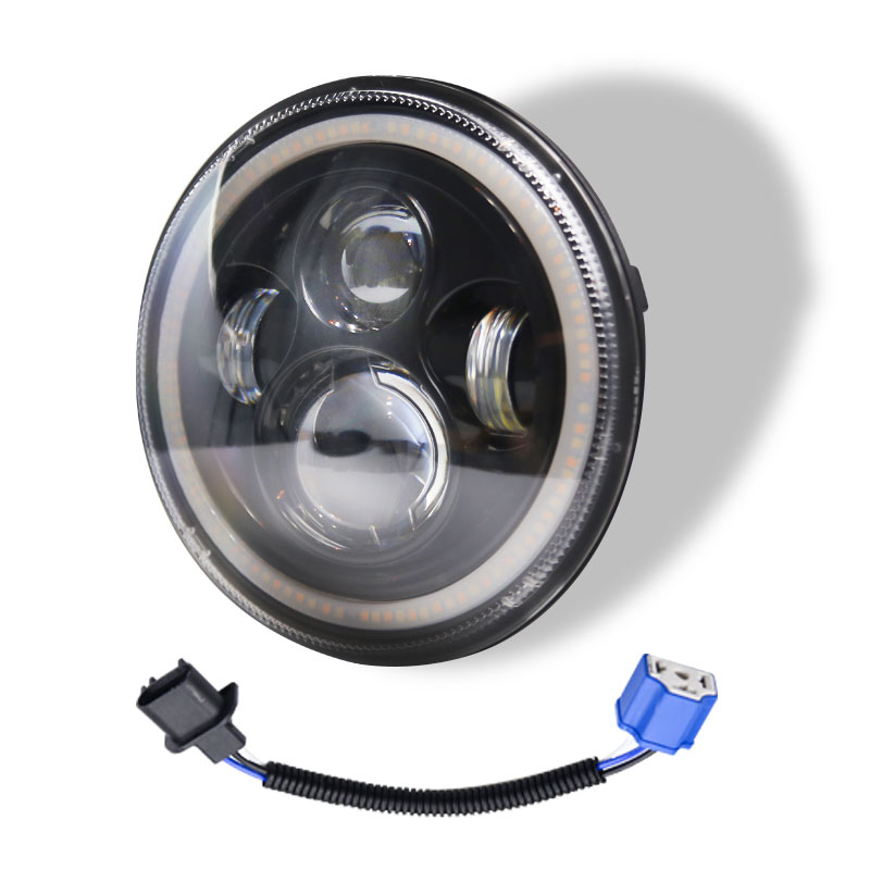 7 INCH 140W LED Headlights Round Halo Angle Eye For Jeep Wrangler JK TJ LJ 97-17 C0018