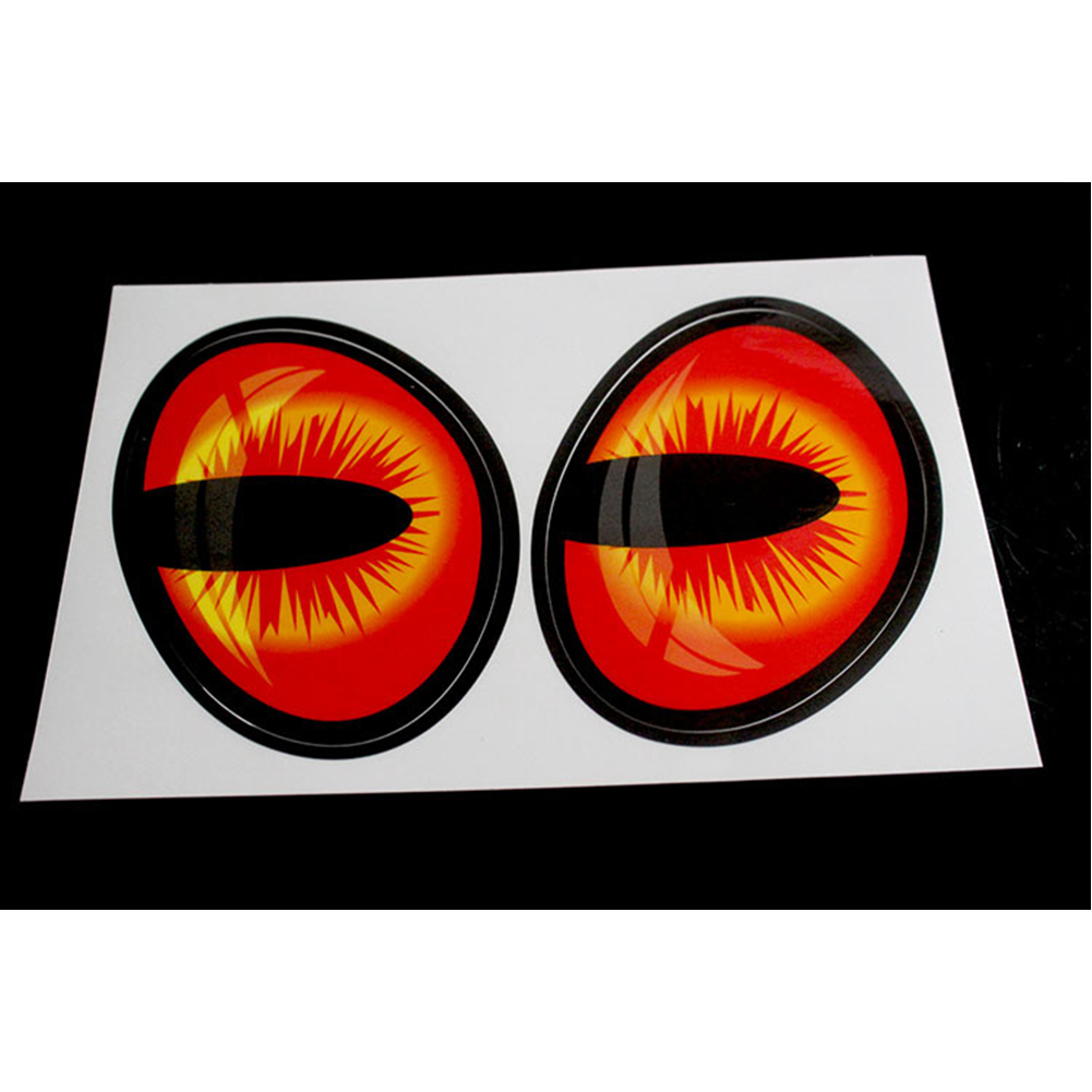 1 Pair Cute Simulation Cat Eyes Car Stickers For Rearview Mirror Car Sticker Car Head Cover Windows Decoration Red+black