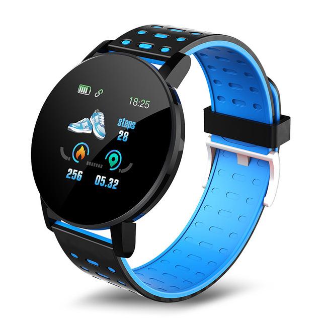 Smart Band Watch Bracelet Wristband Fitness Tracker IP67 Waterproof Smart Bracelet Heart Rate Blood Detection Blue