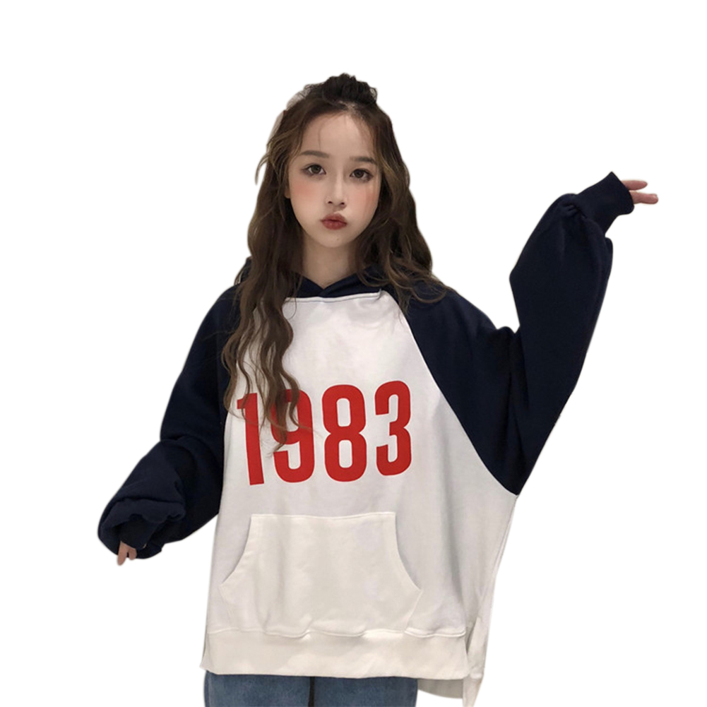 Loose Fashion Preppy Style Hoodies Brushed Hoody for Men and Women white_M
