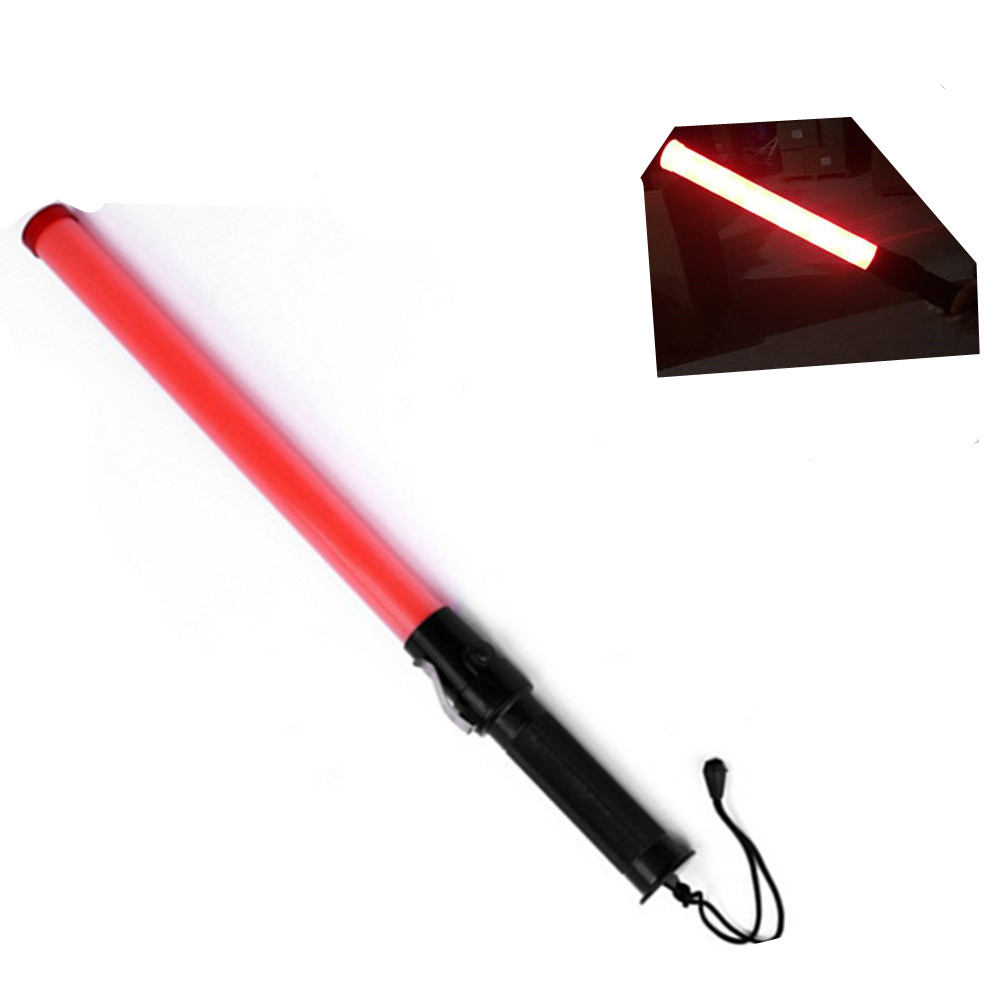 Multifunction Traffic Baton with Hanging Rope 54X3cm Red light