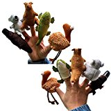 5-Piece Soft Assorted Australian Animal Finger Puppets for Children Story Time
