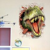 3D Dinosaur Head Wall Sticker Decal