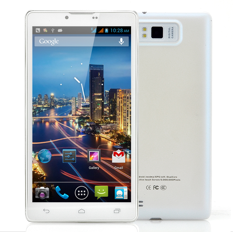 6 Inch Android 4.0 Dual Core Phone - Ivory