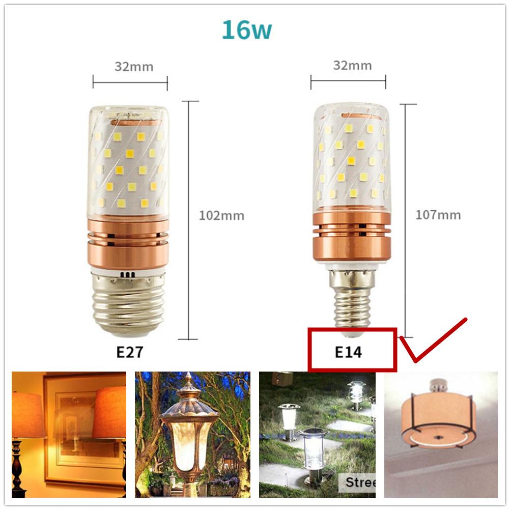 185-265V LED Tricolor Changing Corn Light Bulb Chandelier Lamp Decoration