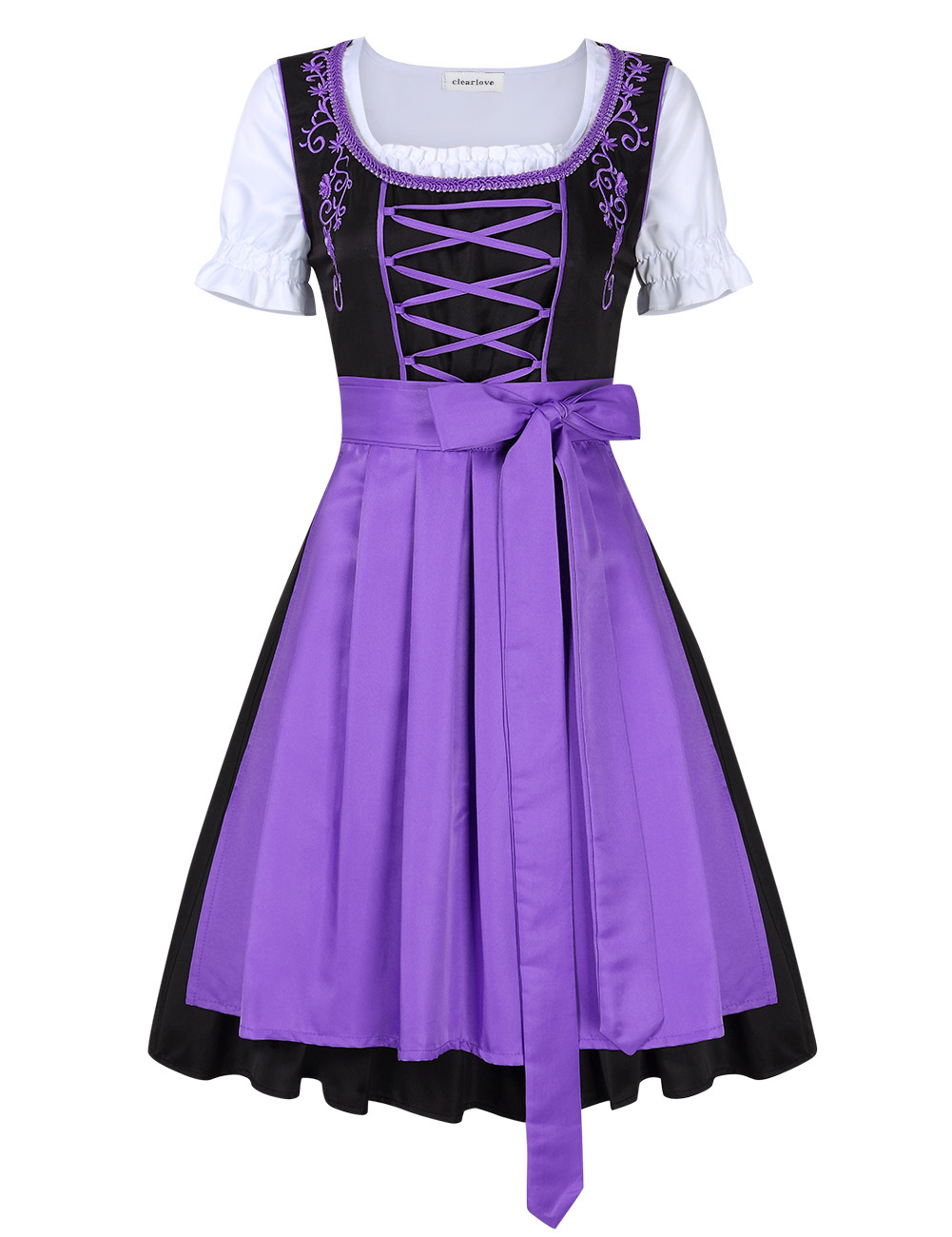 [EU Direct] Clearlove Women's Classic Dress Three Pieces Suit for German Traditional Oktoberfest Costumes