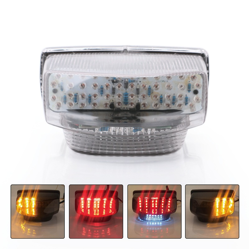 Motorcycle Led Taillights Turn Signal Lamp Stop Lamp For 7-12 years Honda CBR600RR R5 white