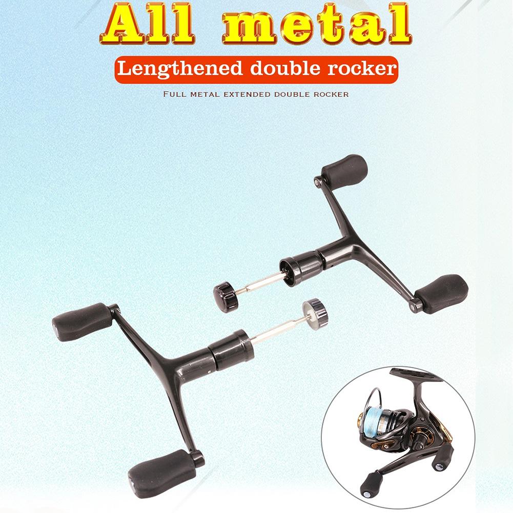 DEUKIO Fishing Reel Double Handle Metal Rocker Arm Spinning Wheel Handlebars Modified Accessories Medium (2000/3000)