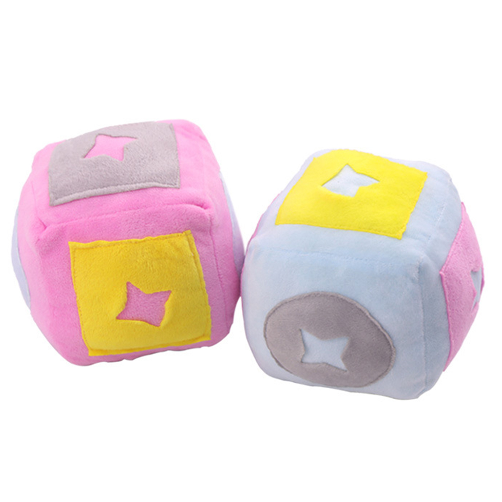 Cartoon Cubic Shaped Chew Plush Toy for Pet Dog Smelling Training
