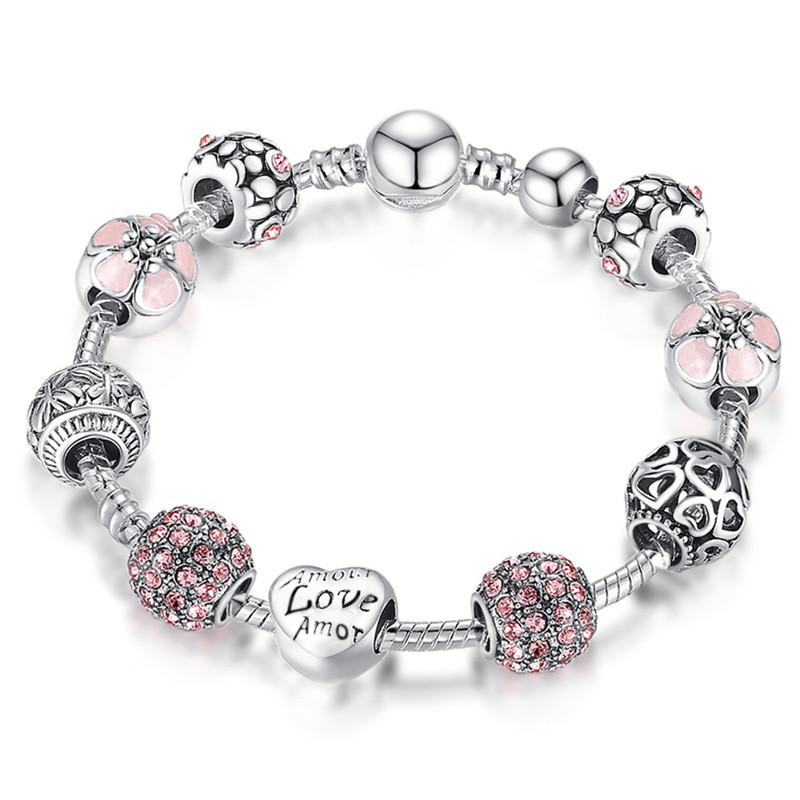Simple Elegant Bracelet Fashion Ethnic Style Heart-shaped Hand Chain 18CM