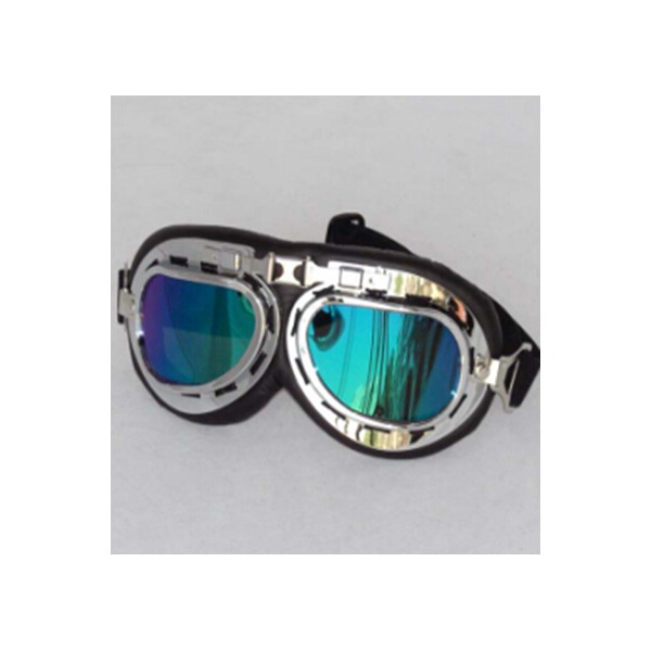 Vintage Aviator Pilot Style Motorcycle Cruiser Scooter Goggle Ultraviolet-proof Transparent Lens Colorful lenses