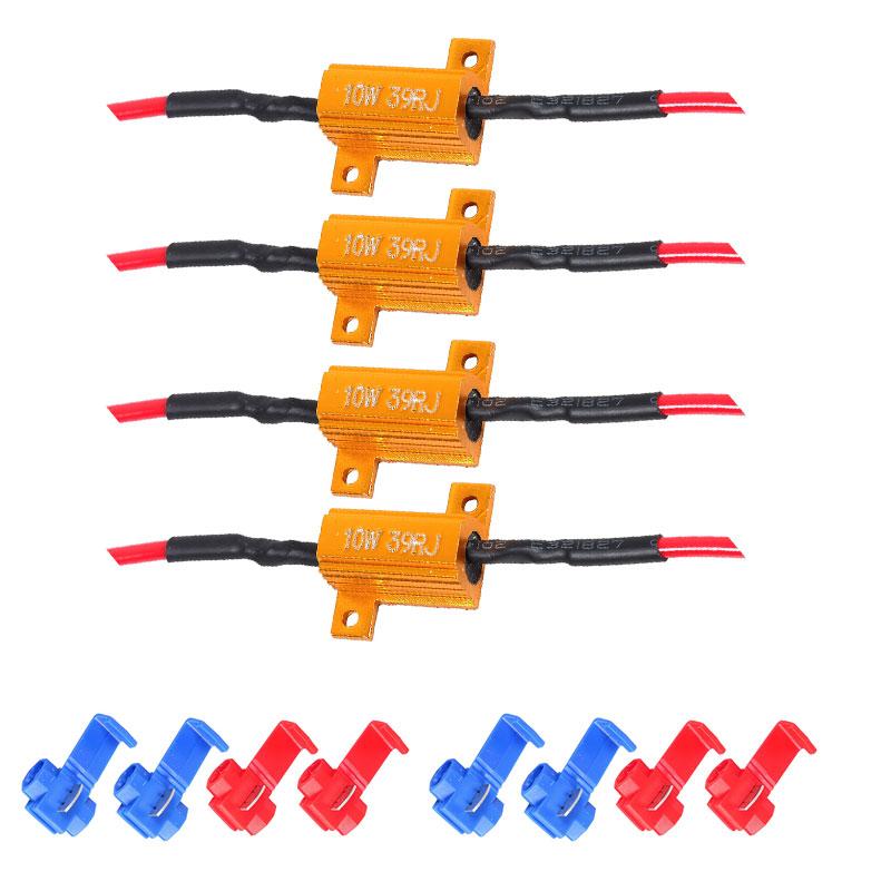 10w 39Ohm LED Load Resistor No Error Warning Canceller for Turn Signal Blink Error Code 10w 39Ohm