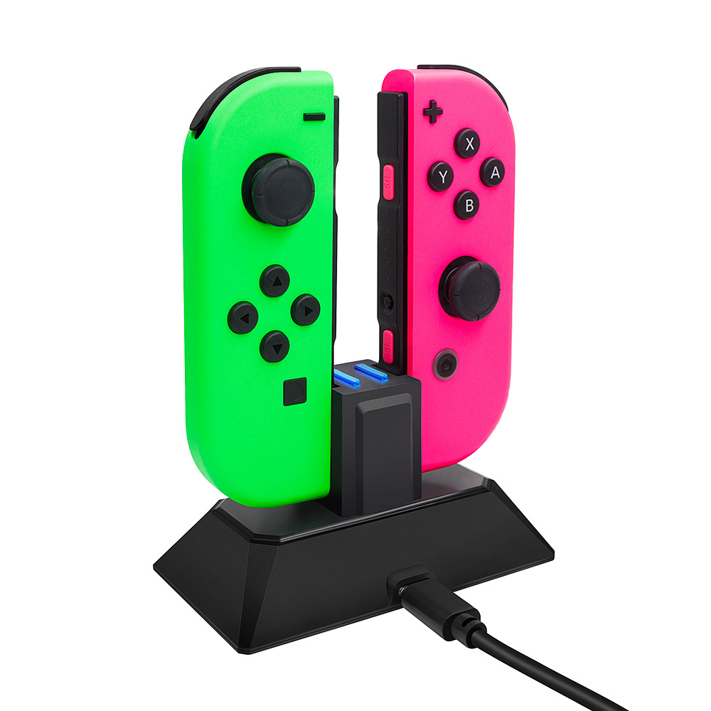 2-in-1 Charging Dock Stand Universal for Nintendo Switch Joy-Con Controllers Portable Charger Station black