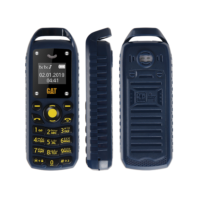 Super Mini 0.66 Inch 2G Mobile Phone B25 Wireless Bluetooth Earphone Hand Free Headset Unlocked Cellphone Dual SIM Card blue