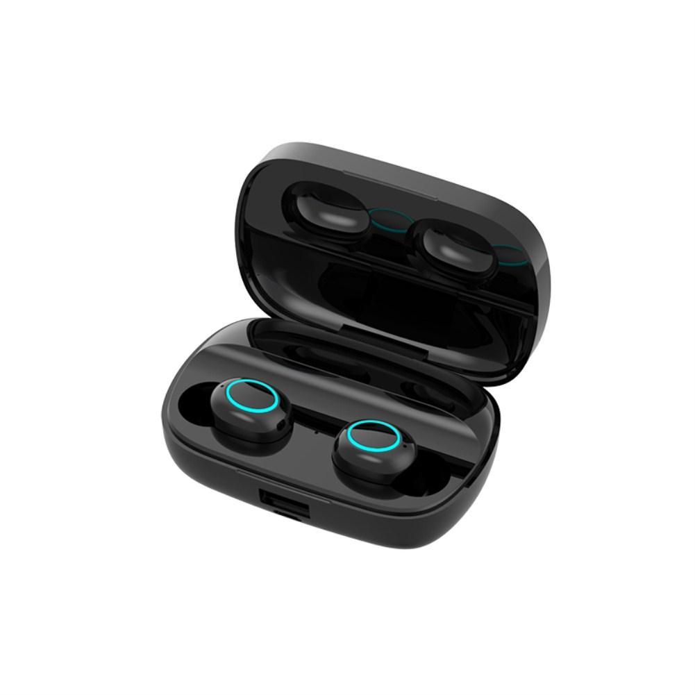 Wireless 5.0 Bluetooth Earphone S11 Bluetooth Headset Headphones Waterproof Touch Control With 3500mAh Charging Box S11 black binaural digital display