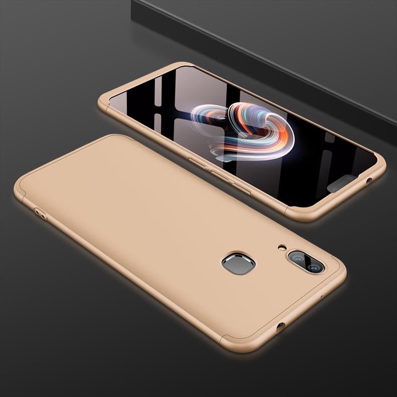 For VIVO X21 Fingerprint 3 in 1 360 Degree Non-slip Shockproof Full Protective Case