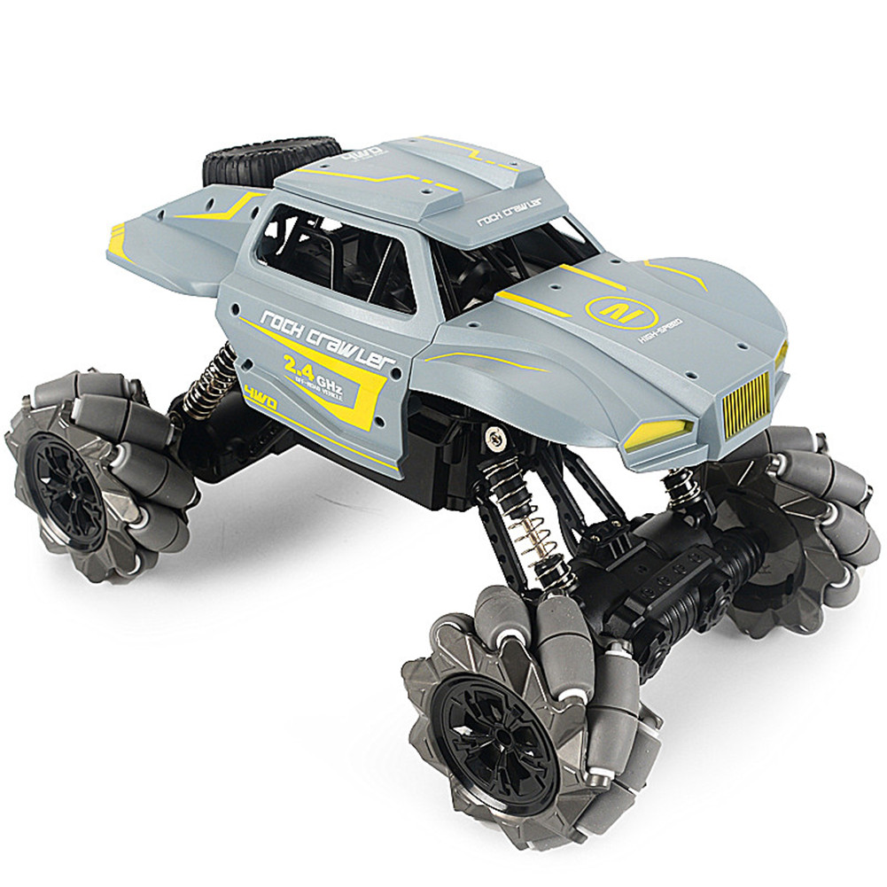 1:16 4CH Remote Control Car Stunt Car Gesture Induction Twisting Off-Road Vehicle Drift Climbing Kids RC Car Toy Gift Boys Girl Christmas Present Blue gray