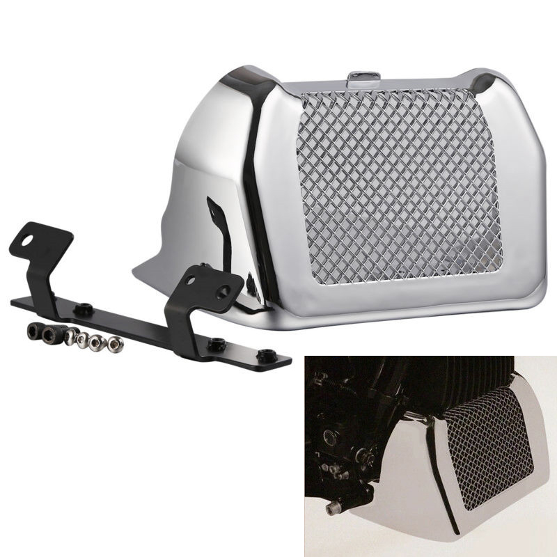 Motorcycle Engine Cover Oil Cooler Cover for  Street Glide FLHX,Special FLHXS 2017-2019 iron-plated color
