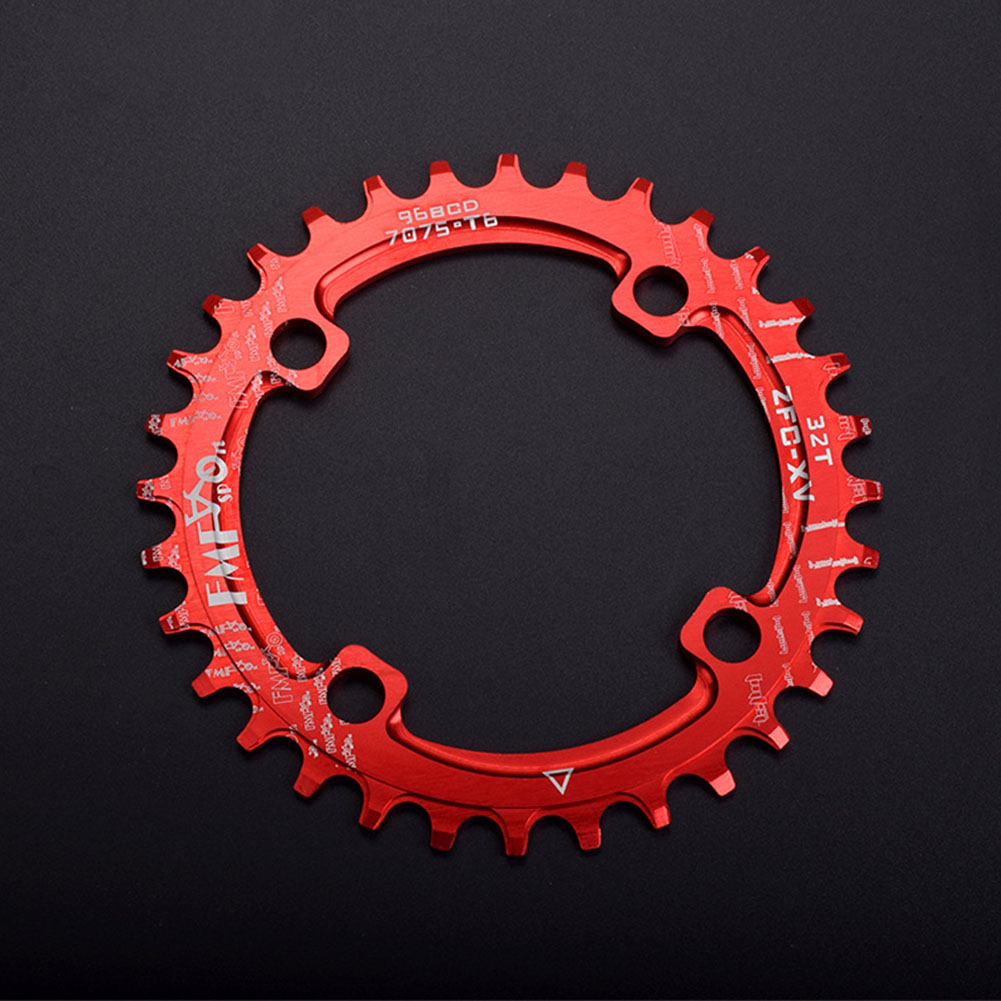 96BCD Positive and Negative Gear Plate Bike Single-speed Disc/Oval Modified Tooth Plate red_96bcd disc 32T
