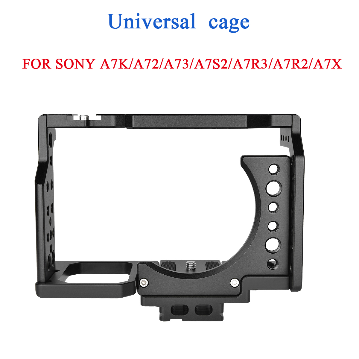 SLR Camera Rabbit Cage Universal for Sony A7 Series Movie Camera Kit Shock Absorber Photo Studio Stabilizer Portable Camera Protective Cage black