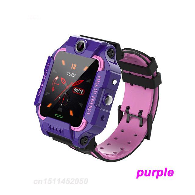 Q19 Smart Watch Children Smartwatch Camera Bracelet LBS Position Lacation Tracker SOS Anti-lost Baby Watch Voice Chat Alarm Clock purple