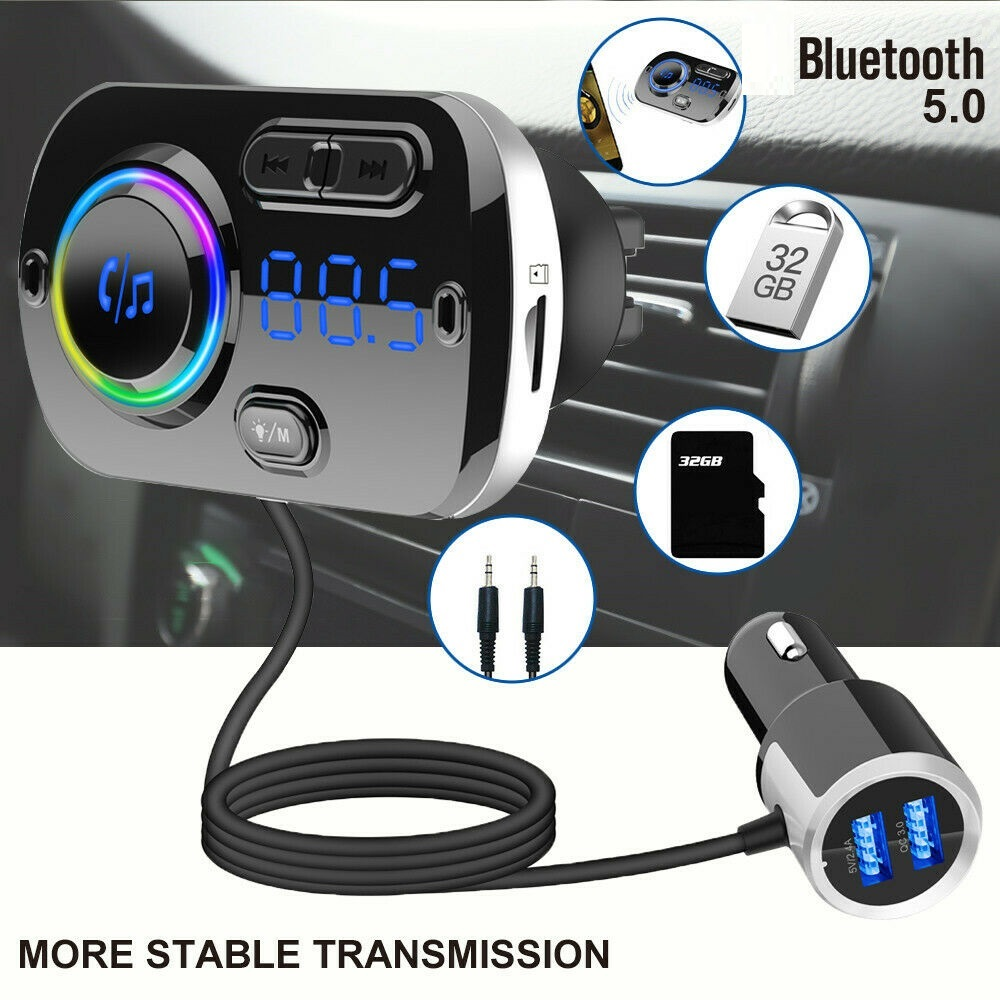 Car Bluetooth Fm Transmitter Car Usb Charger Mp3 Player Audio Player Boxed