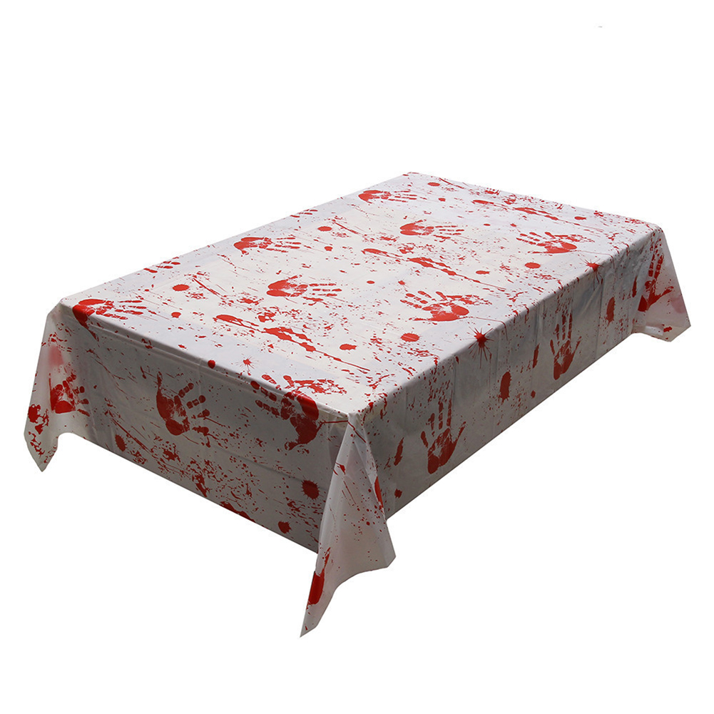 Horror Blood Hand Print Table Cover for Halloween Party Decoration Props  Cloth material