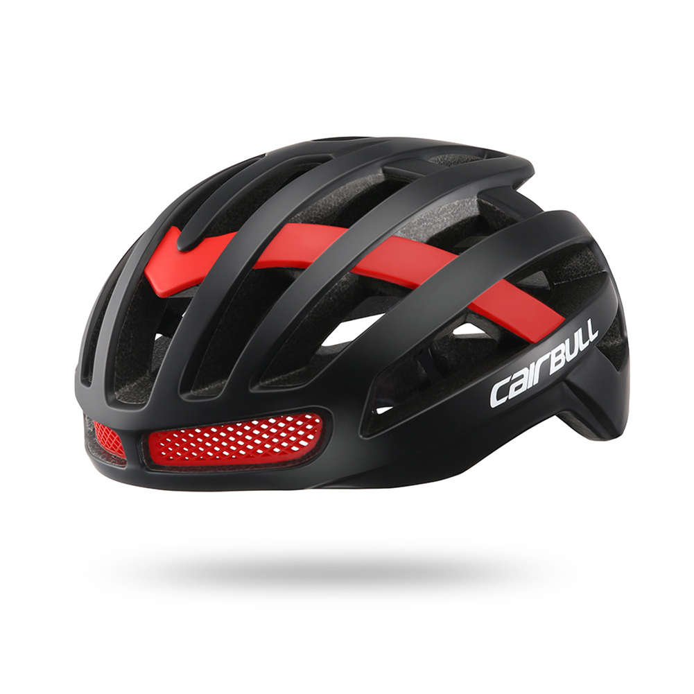 Outdoor Riding Super Lightweight Helmet Road Cycling Comfort Areo Moutain Riding Safety Helmets Bicycle Breathable Helmet Black red_M (52-58CM)