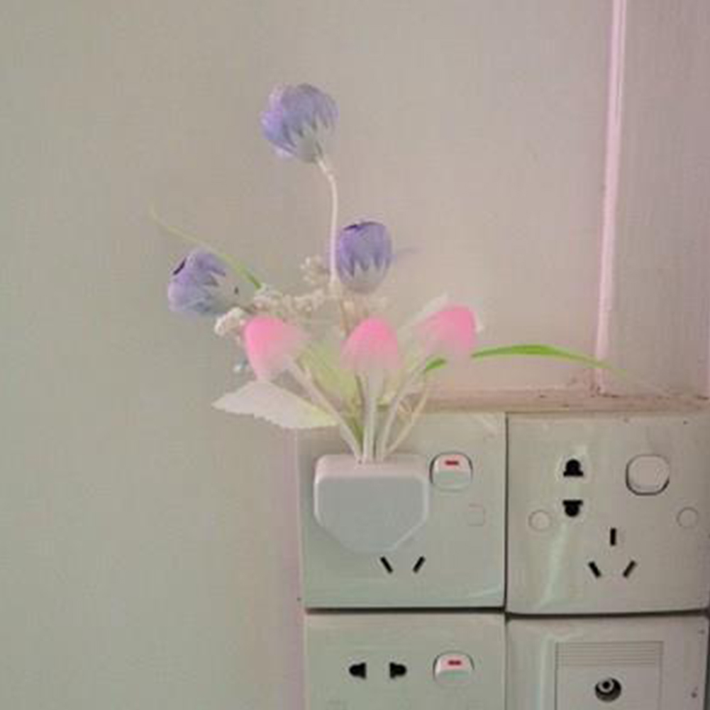 Simple Cute Shaped LED Light Motion Sensor Night Light for Room Wardrobe Wall Lighting Purple flower night light_conventional