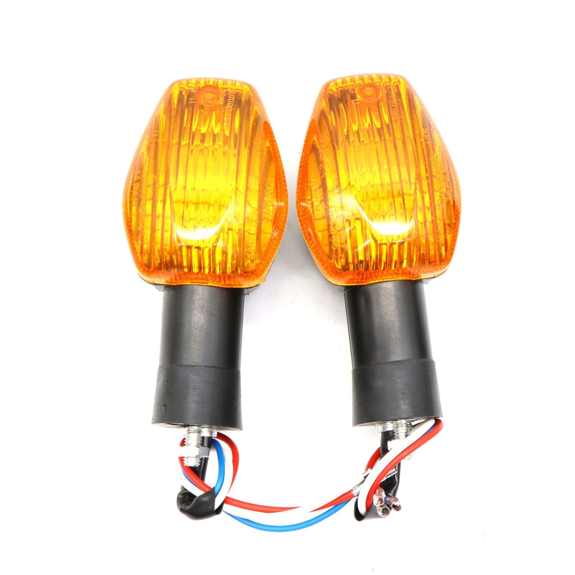 For HONDA CBR 600 CBR 1000RR CB 400 CB900 2002-2012 Motorcycle Modified Front Rear Turn Signal Indicator Warning Light Lamp Yellow shell