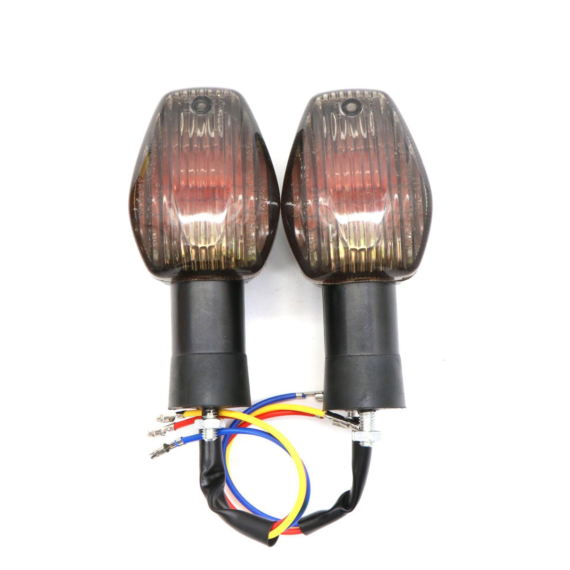 For HONDA CBR 600 CBR 1000RR CB 400 CB900 2002-2012 Motorcycle Modified Front Rear Turn Signal Indicator Warning Light Lamp Brown shell