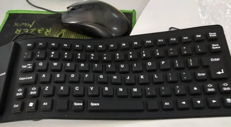 Black 85 Keys Silicone Keyboard USB Wired Waterproof Flexible Folding Key board for PC Desktop Laptop