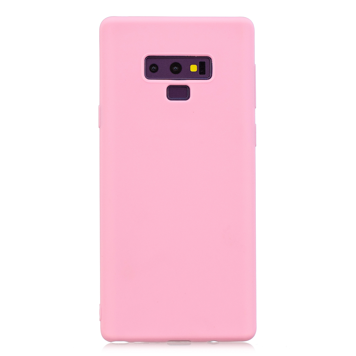 for Samsung NOTE 9 Cute Candy Color Matte TPU Anti-scratch Non-slip Protective Cover Back Case dark pink