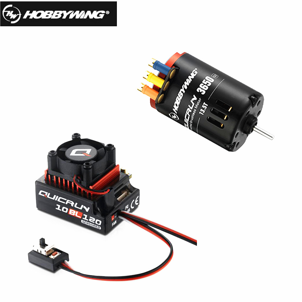 HobbyWing QuicRun 3650 SD G2 with QuicRun 10BL120 120A Sensored Comb for RC 1/10 cars 13.5T