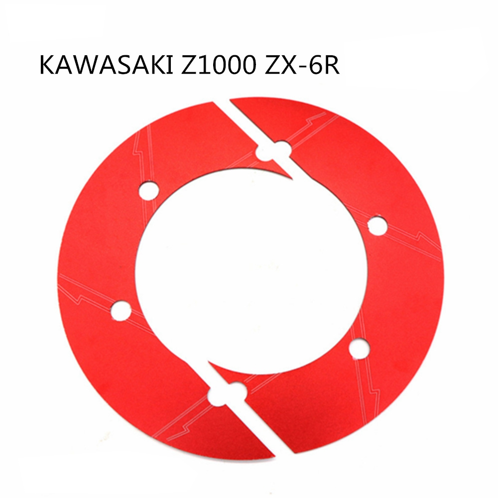 Advanced Motorcycle Rear Chain Gear Decorative Cover for KAWASAKI Z1000 ZX-6R red