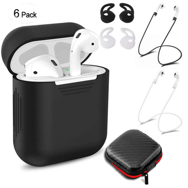 For Airpods Wireless Bluetooth Headsets Protection Set  black