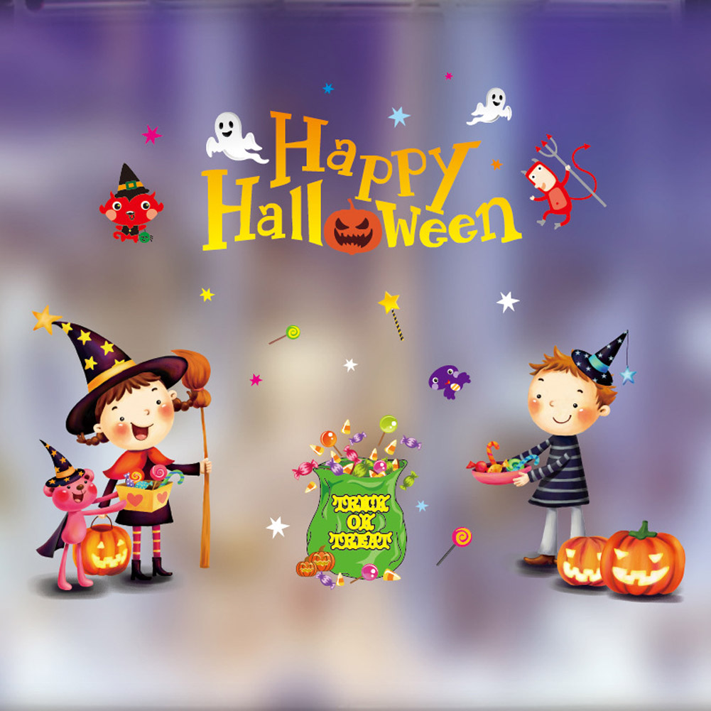 Static Sticker Halloween Display Window Decoration Prop for Home Office Dormitory