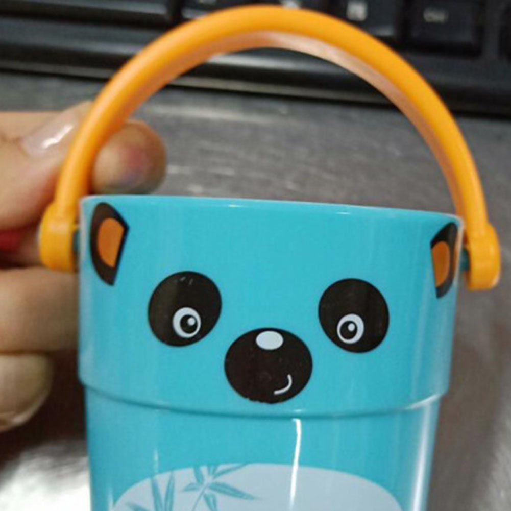 Mini Bath bucket Toy Small Bucket Miniature Dollhouse Accessories Simulation Pail Model Toys light panda