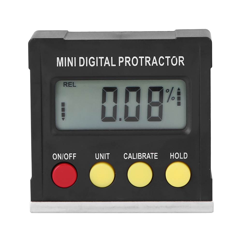 Mini Electronic Digital Inclinometer Slope Level Protractor Magnetic Angle Dip Box black
