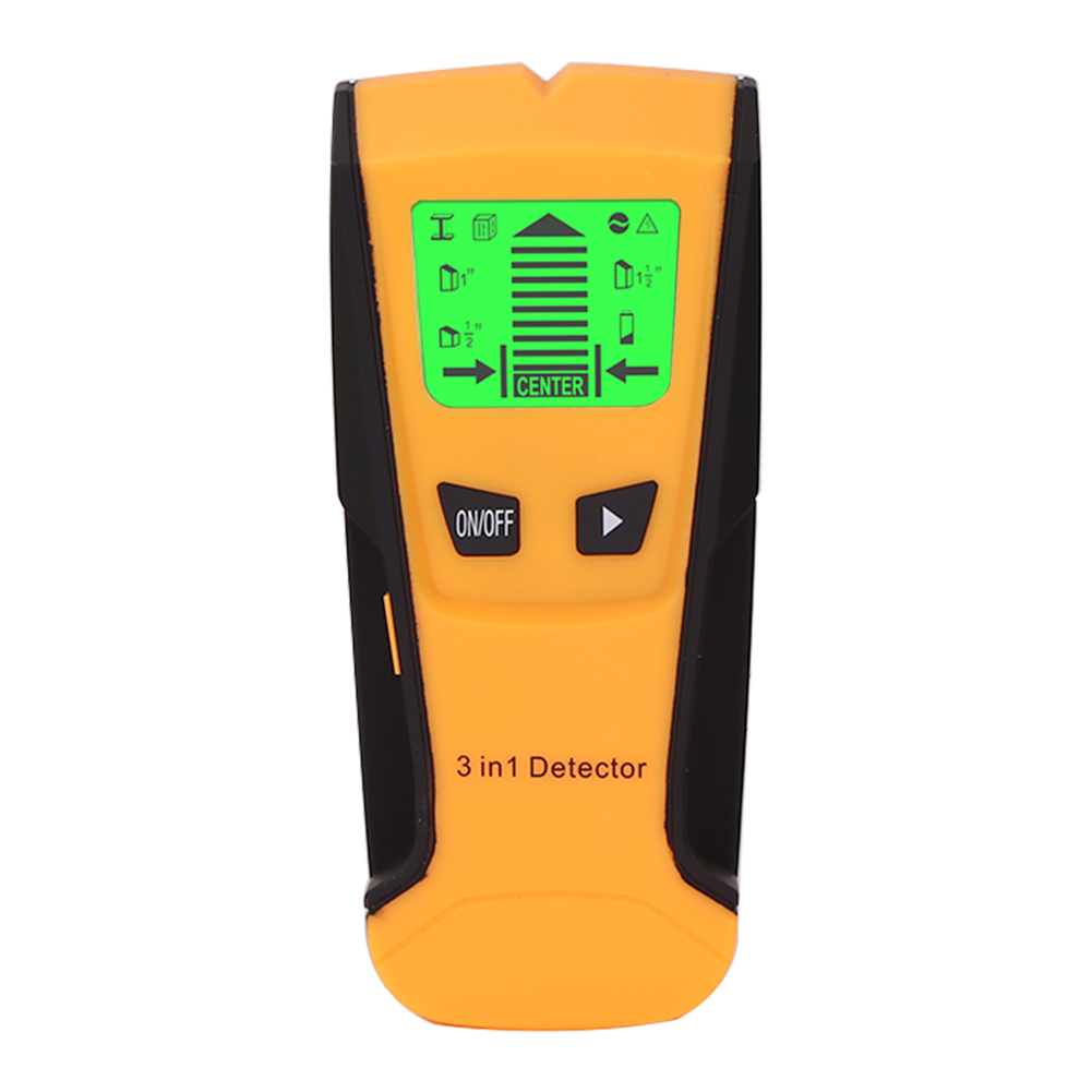 Metal Detector Find Metal Wood Studs Wall Scanner Electric Box Finder Wall Detector yellow